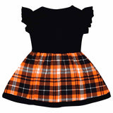 Unique Baby Girls Ghost Boo Plaid Halloween Dress (2t)