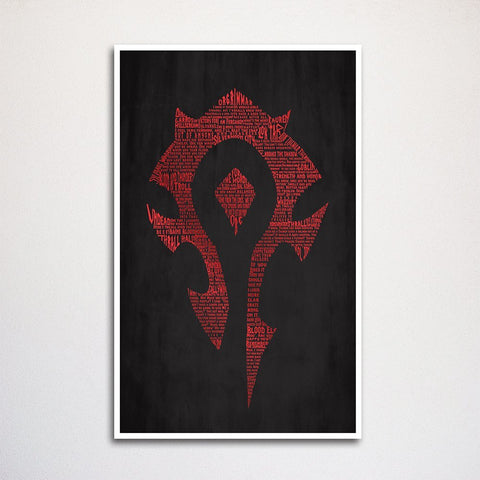 Warcraft Horde and Alliance Art Print Two Set- 11x17""