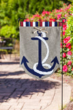 "Evergreen Anchor Double-Sided Burlap Garden Flag- 12.5""W x 18""H"