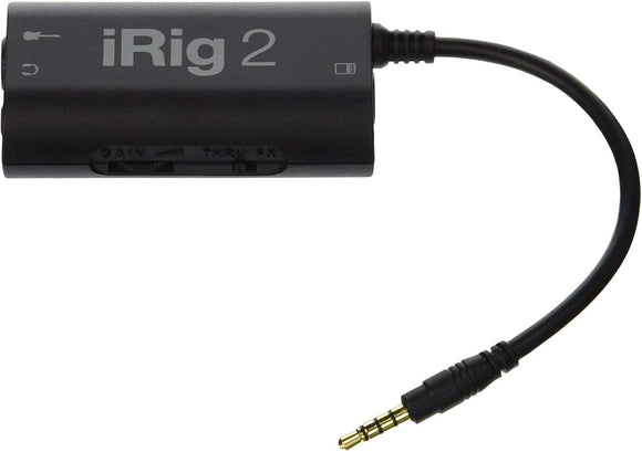 IK Multimedia iRig 2 adaptador de interface de guitarra para iPhone, iPod touch, iPad, Mac y Android