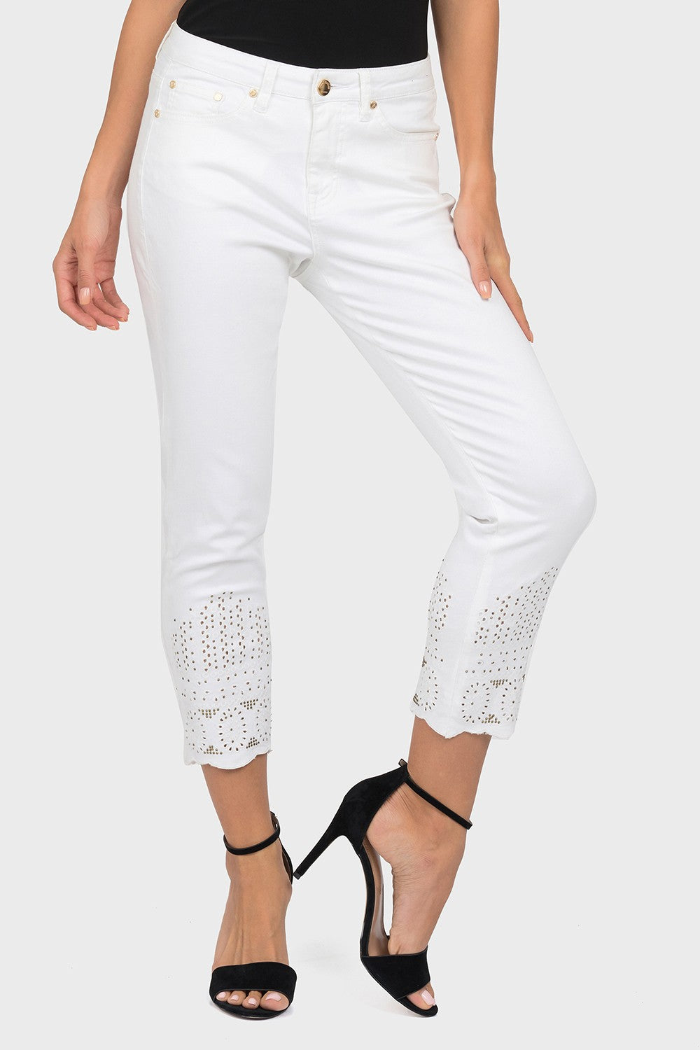 Cropped White Denim