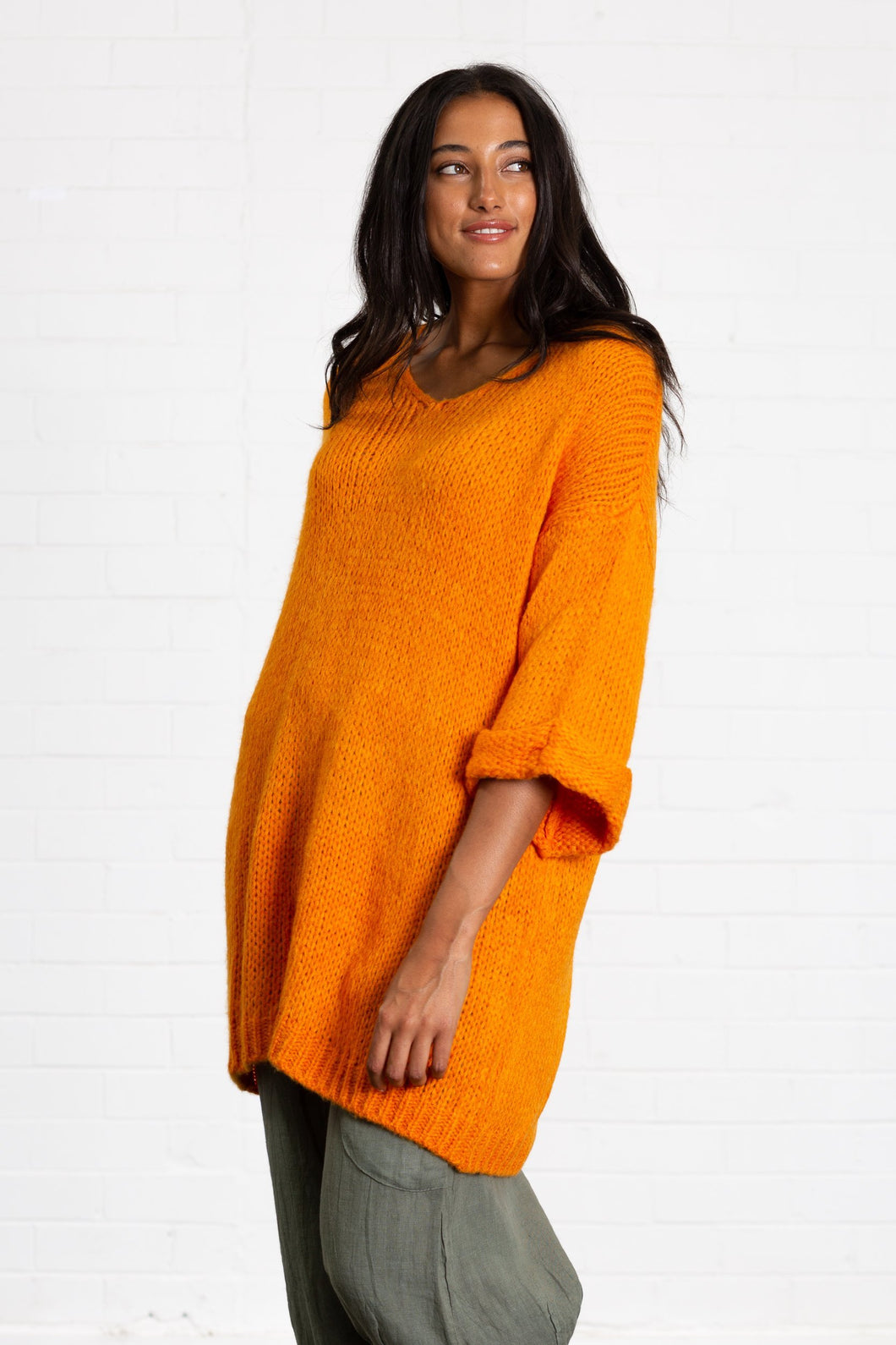 Chunky Long Knit Jumper Dress
