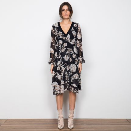 Interbloom Midi Dress