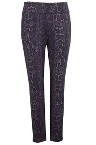 Up! Pant 66450UP Navy Snake Ponte