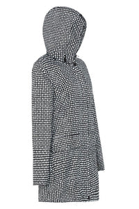 Womens Anyday Raincoat in Black Dalmation