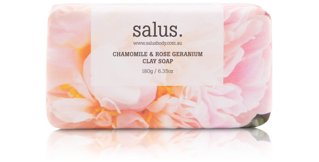 Chamomile & Rose Geranium Clay Soap