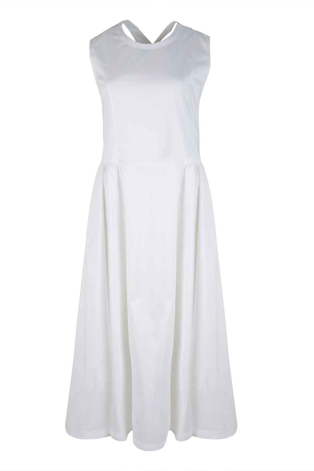 Cross My Heart Dress in White