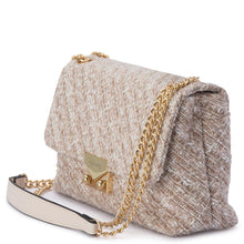 Emerson Quilted Tweed Shoulder Bag