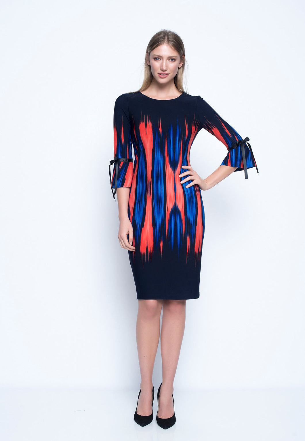 3/4 Ruffle Sleeve Dress GH612EF