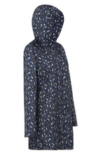 Womens Anyday Raincoat in Geo Blue