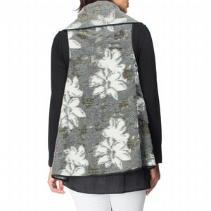 Jacquard Wool Swing Vest