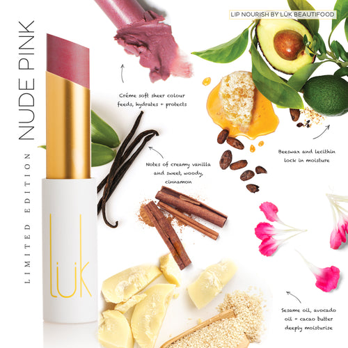 Lip Nourish LIMITED EDITION Nude Pink Natural Lipstick