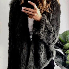 Fur Jacket in Black