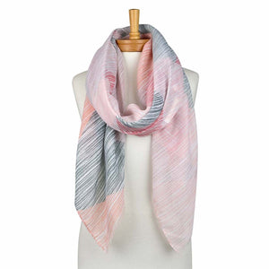 Pink: 4 Colours Strip Scarf