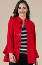Crimson Button Coat
