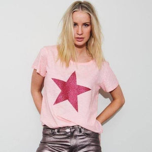 Time Traveller Star Tee - Watermelon Crush