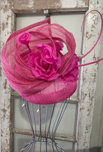 Pink Sinamay Fascinator