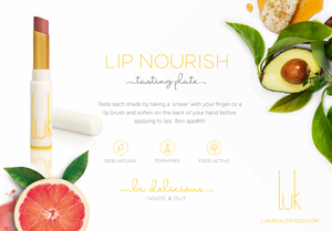 4 shade Lip Nourish Tasting Plate with $5 off coupon