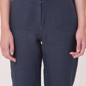 Contemporary Linen Cropped Pants