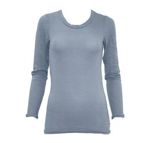 Vigorella Long Sleeve Scoop Neck Top w bands VW331