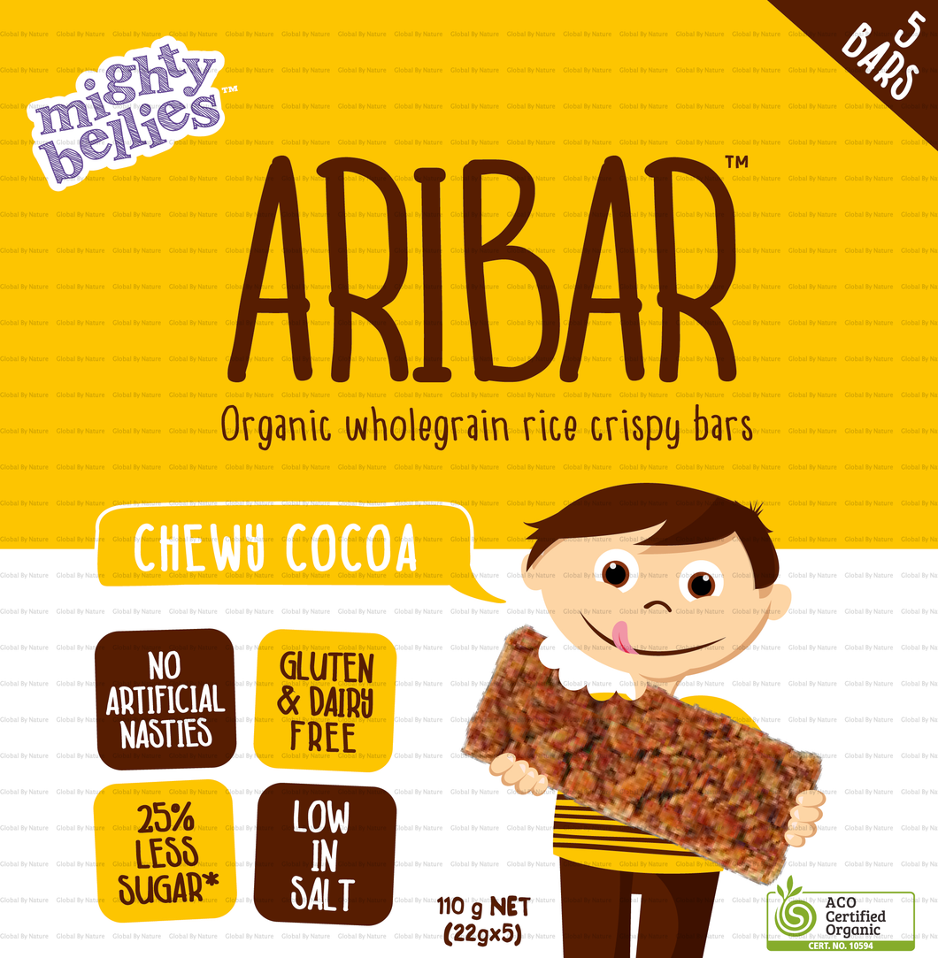 Mighty Bellies Aribar Chewy Cocoa 5pk 110g