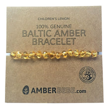 Amberbebe Baltic Amber Children's Bracelet 15cm Lemon
