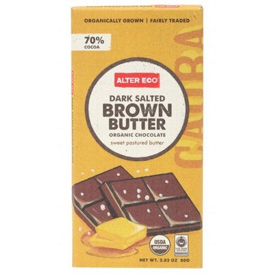 ALTER ECO Chocolate (Organic) Dark Brown Butter 80g