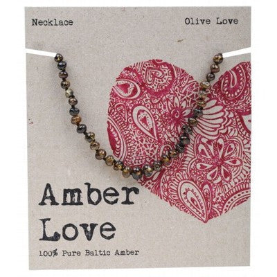 Amber Love Olive Love Baltic Amber Children's Necklace 33cm