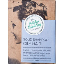 THE AUST. NATURAL SOAP CO Solid Shampoo Bar - Oily Hair - 100g