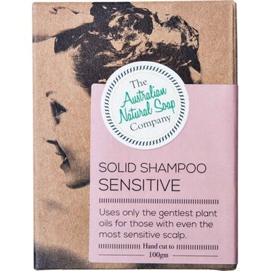 THE AUST. NATURAL SOAP CO Solid Shampoo Bar - Sensitive Scalp - 100g