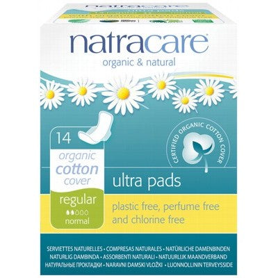 NATRACARE Regular Ultra Pads with Wings 14 pack