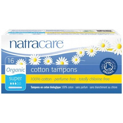 NATRACARE Super Tampons (Applicator) 16 pack