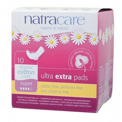 NATRACARE Ultra Extra Pads Wings Super x 10