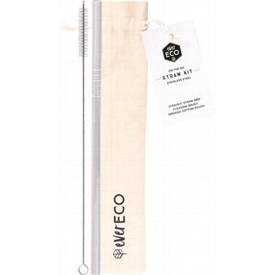 EVER ECO Stainless Steel Straw - Straight On-The-Go Straw Kit