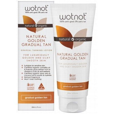 WOTNOT Gradual Tanning Lotion Golden Tan 200ml