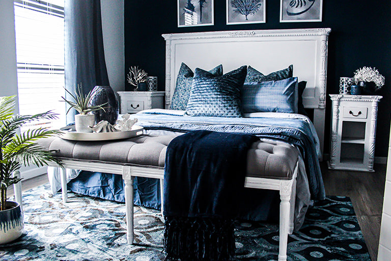Blue Pieces of Home Furniture Help You Fall Asleep