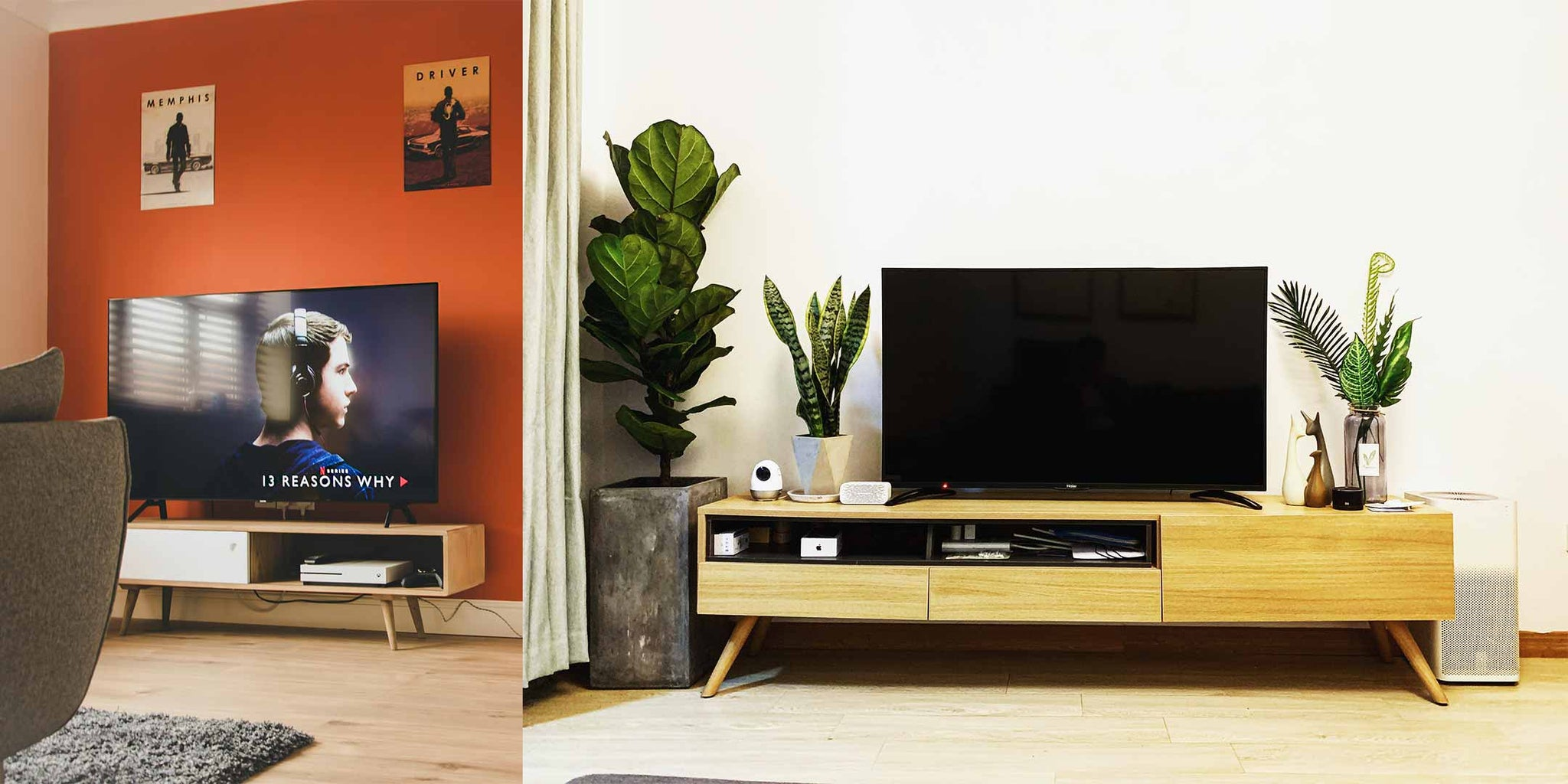 Classic wooden TV console
