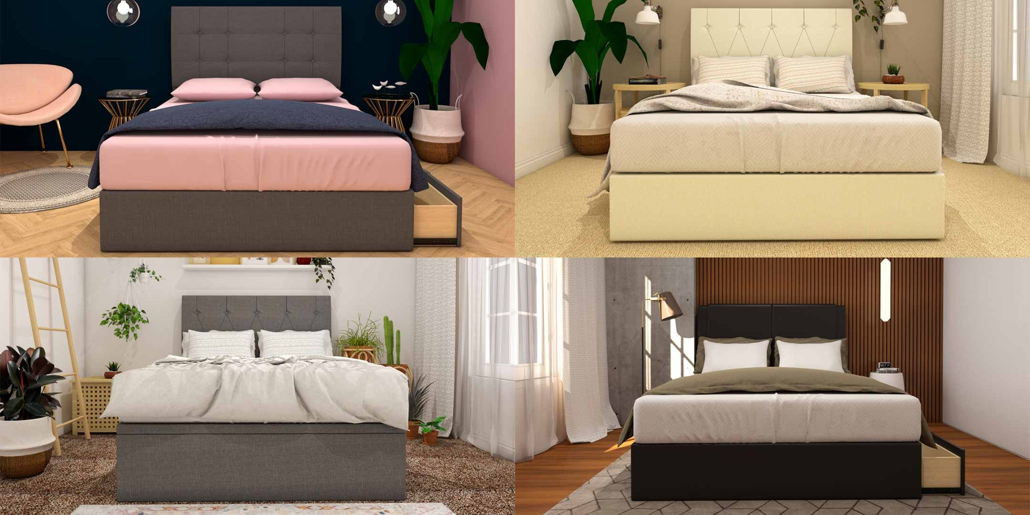 Different styles of storage bedframes for your style