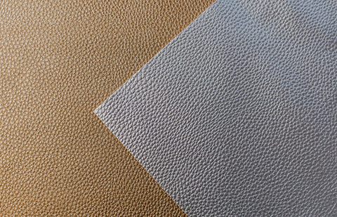 Gold And Grey Leather