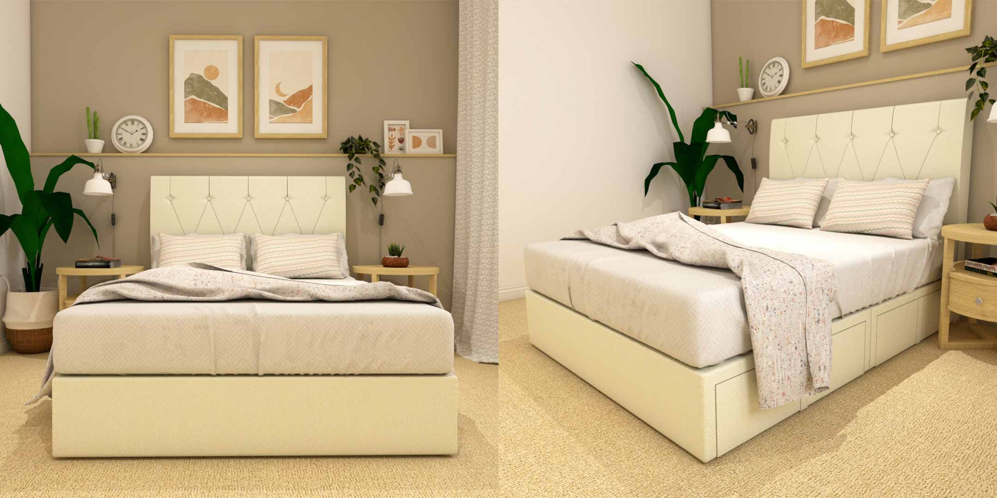 More Stability for your Mattress with Harrier Faux Leather Drawer Bed Frame