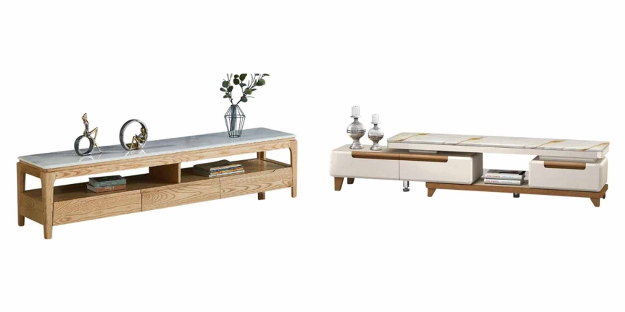 Marble Top TV Console