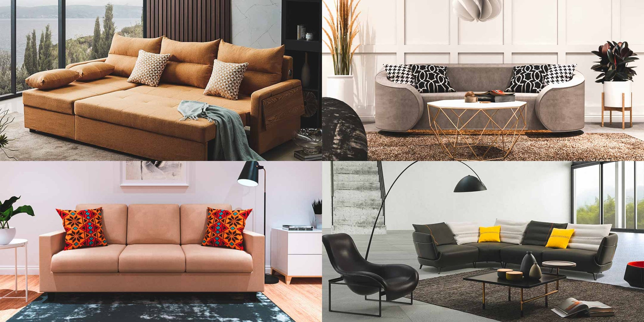 Different Styles of Sofa - Sofa Bed, Sectional Sofa, Mid-Century Sofa