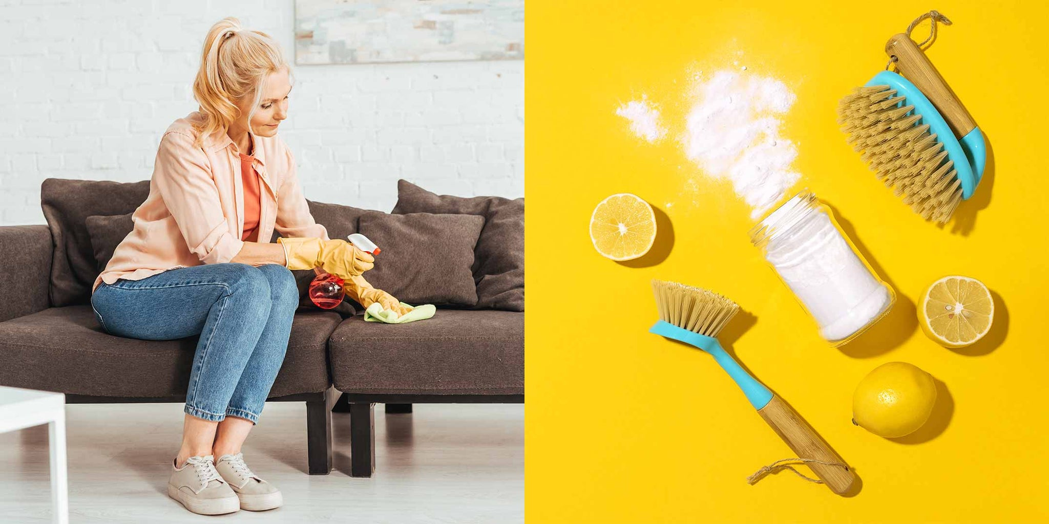 Using baking soda to clean your sofa