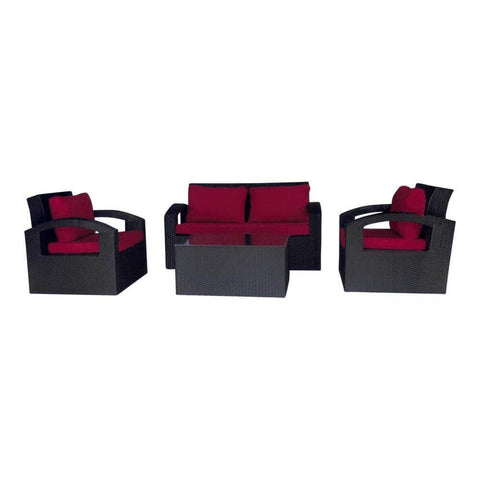Abigail Wicker Outdoor Sofa Set-Megafurniture