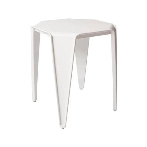 Aden White Stool-Megafurniture