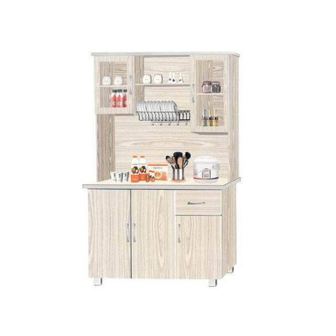Aegner Tall Kitchen Cabinet-Megafurniture