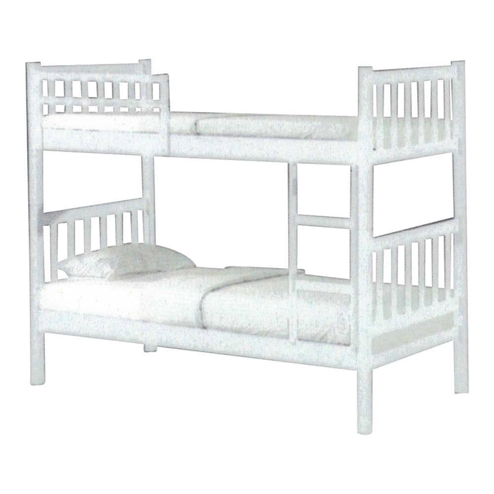 Alondra White Wooden Double Decker Bed Frame – Megafurniture