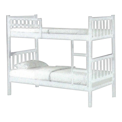 Alondra White Wooden Double Decker Bed Frame-Megafurniture