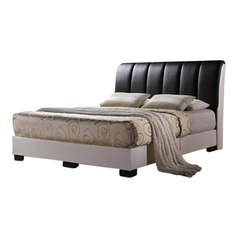 Altair Faux Leather Bed Frame-Megafurniture