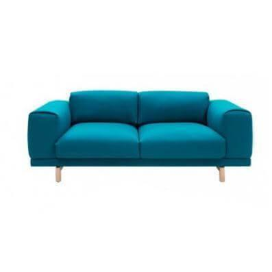 Alyssa Blue Fabric Sofa-Megafurniture